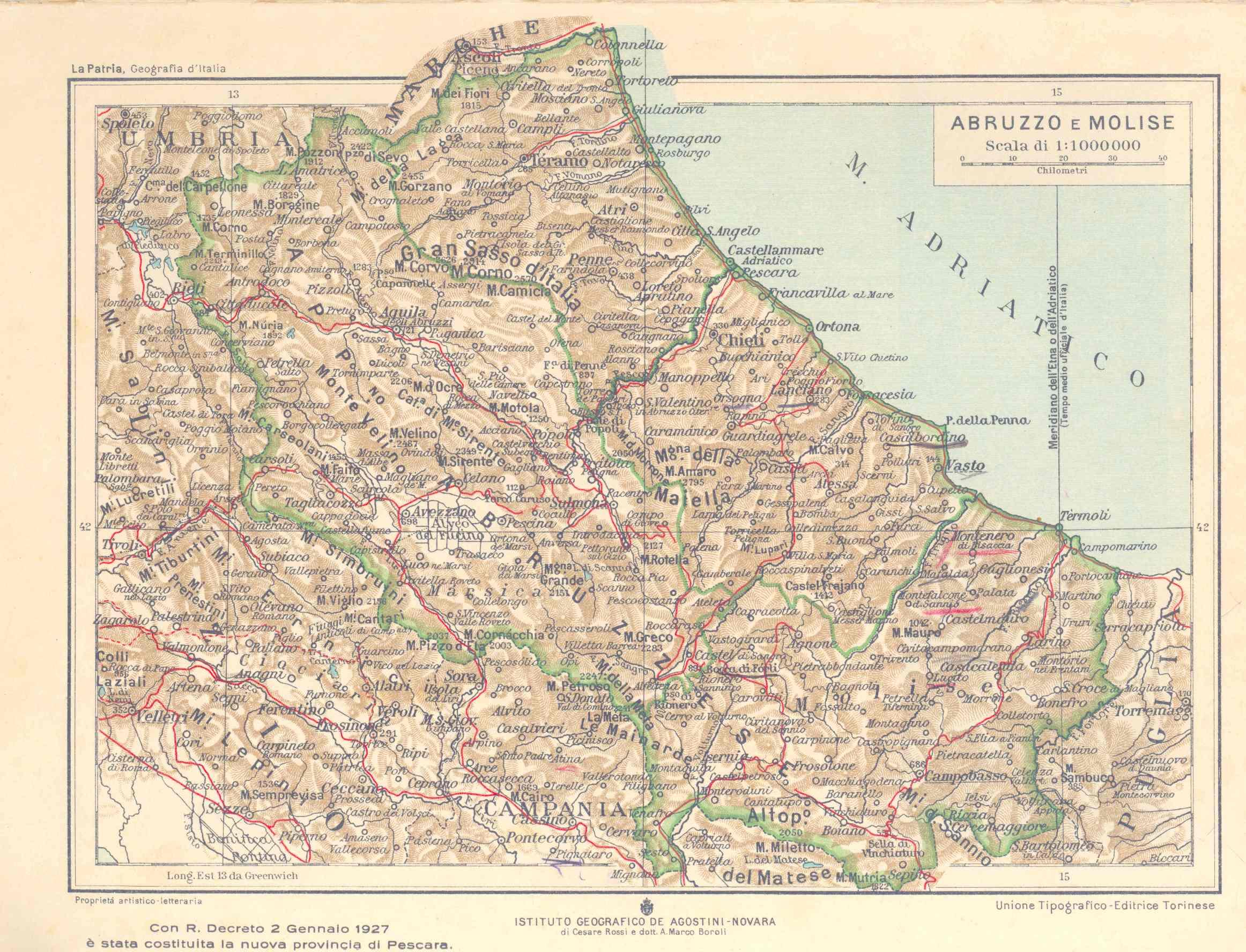 Cartina Del Molise Geografica.Gli Abruzzi