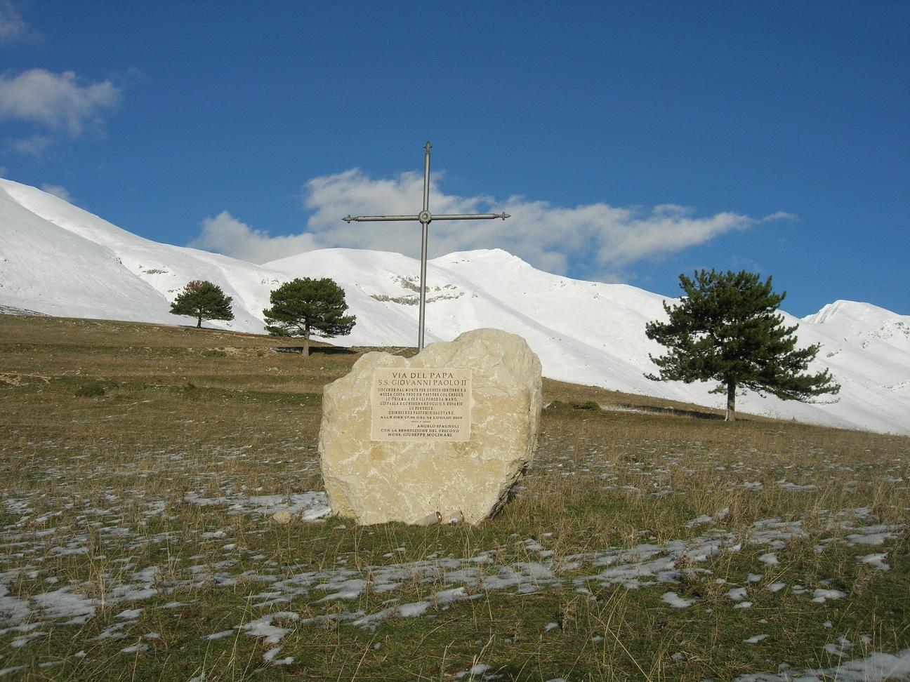 Il sentiero dedicato a Giovanni Paolo II